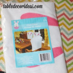 Dollar Tree Easter Chair Covers Swivel With Recliner Ideas | Easy Table Decor Idea