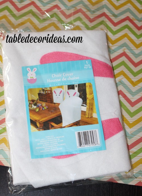 dollar tree easter chair covers contessa office ideas easy table decor idea cover jpg