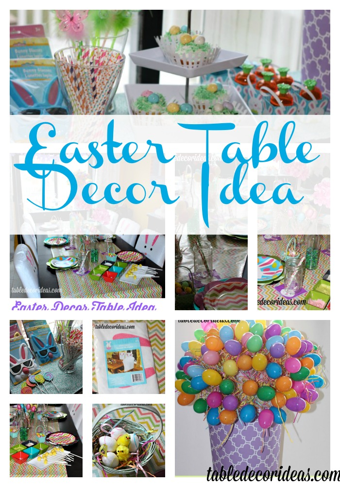 dollar tree easter chair covers beach with wheels ideas easy table decor idea