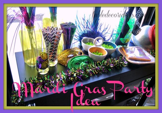 Easy Mardi Gras Party Decor Ideas