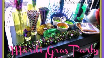 Get ready for your Mardi Gras party with these easy and frugal ideas- Mardi Gras Party & Decor Ideas