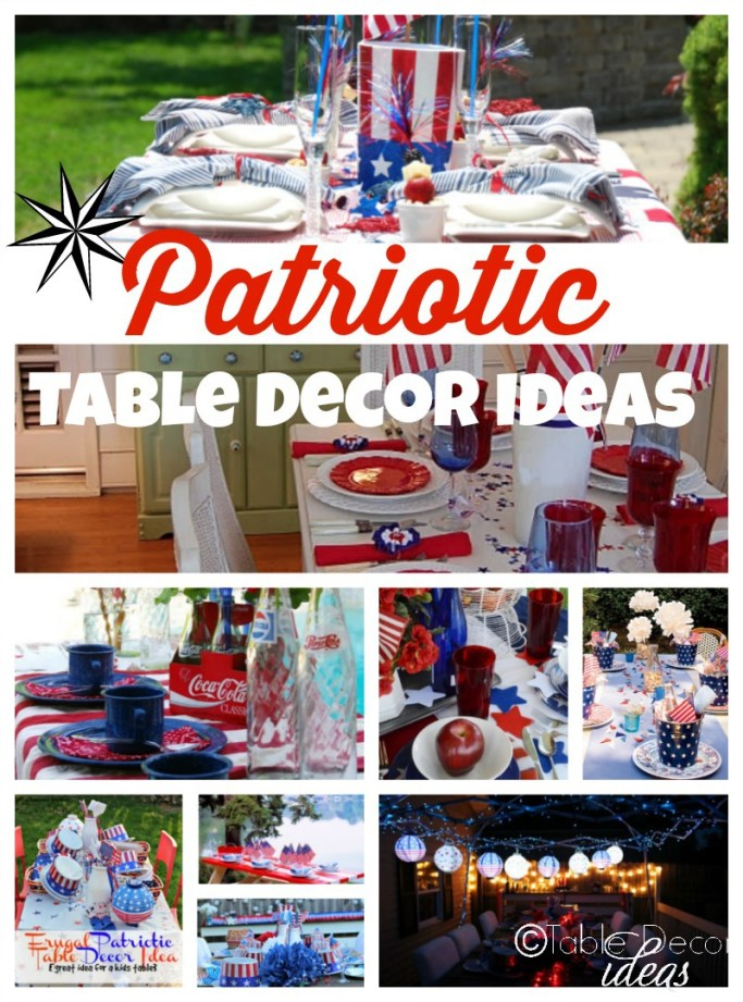 table decor ideas, red and white decor ideas,