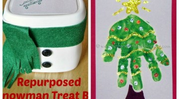 Easy Christmas Crafts for Kids! Get in the holiday spirit and have fun making Christmas crafts with the kids!