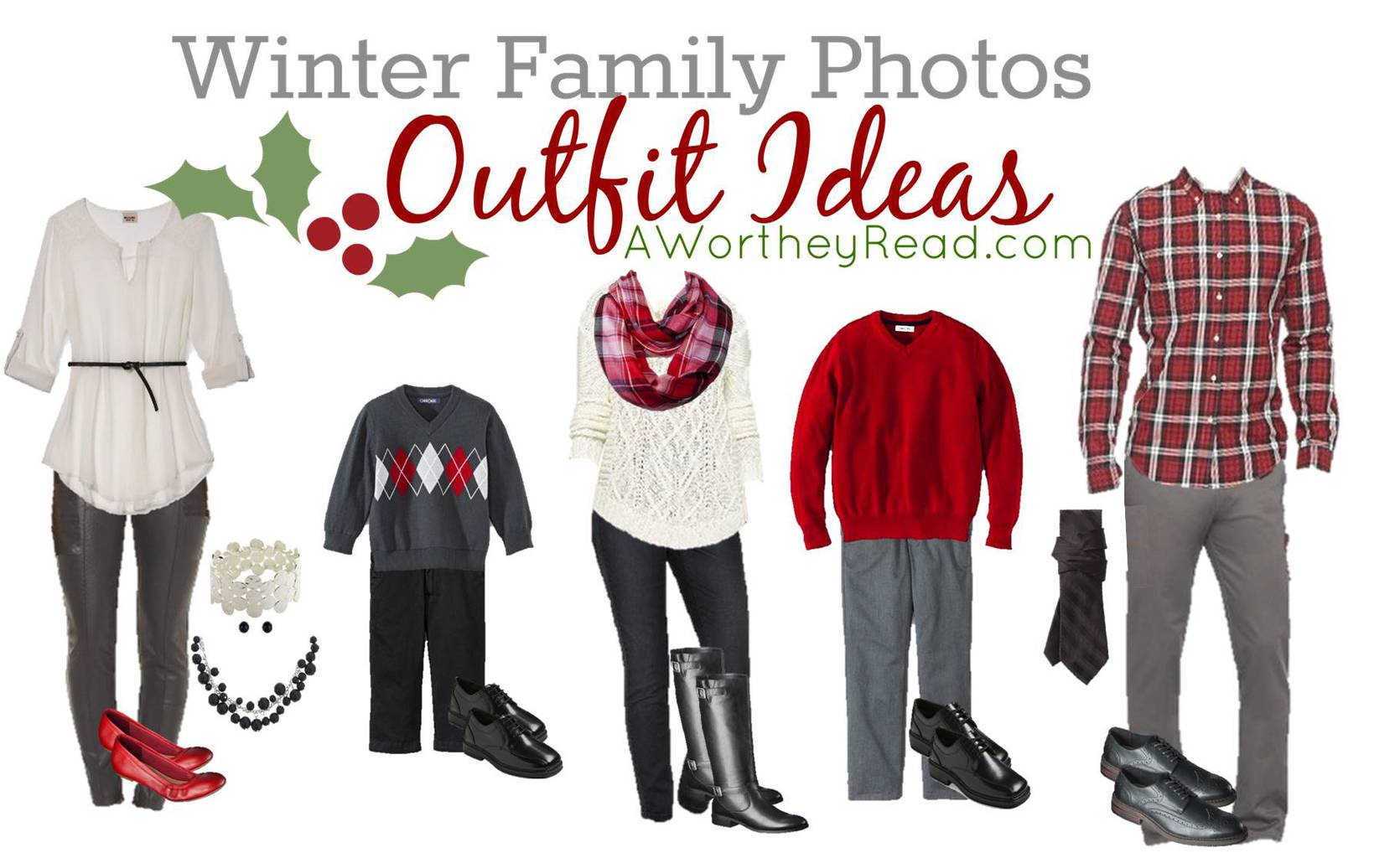 Family Photo Outfit Ideas Red White Black