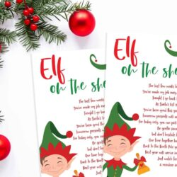 Free Elf on the Shelf printable