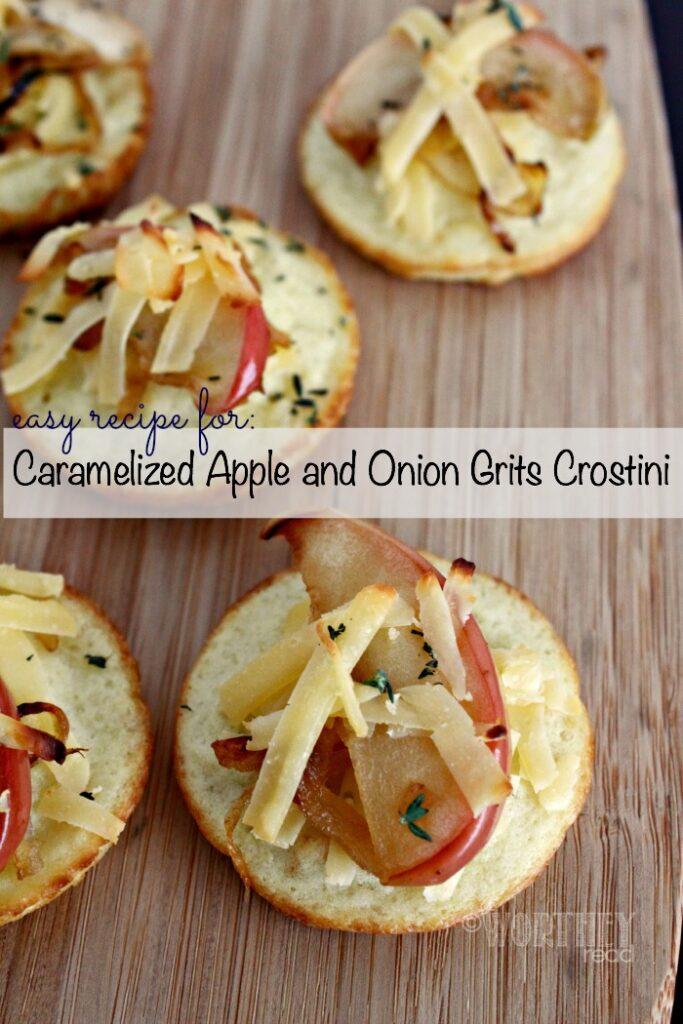 Easy Recipe for Caramelized Apple and Onion Grits Crostini
