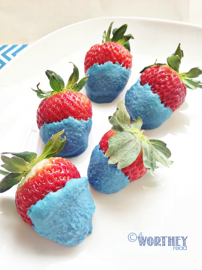 Easy Recipe for Dr. Seuss Birthday- Dr. Seuss Thing One & Thing Two Dipped Strawberries