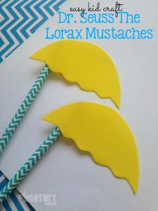 Easy Kid Craft: Dr. Seuss The Lorax Mustaches