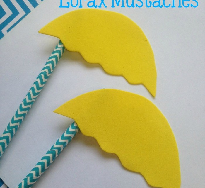 Easy Kid Craft Dr. Seuss The Lorax Mustaches