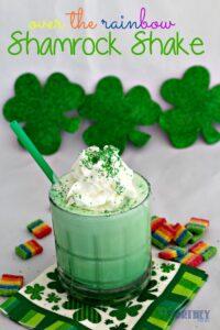 Easy St. Patrick's Day Drink Idea- Over The Rainbow Shamrock Shake