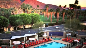 View of the Hyatt Palm Springs California