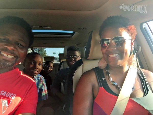Family Selfie in the Kia Sedona