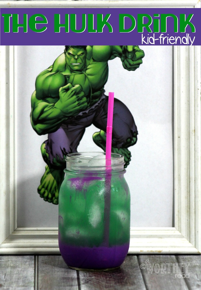 The kids will LOVE this fun drink that's all about The HULK! Kid-Friendly Drink: The Hulk