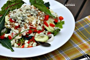 Deconstructed Mini Pasta Salad with Lemon & Dill Dressing