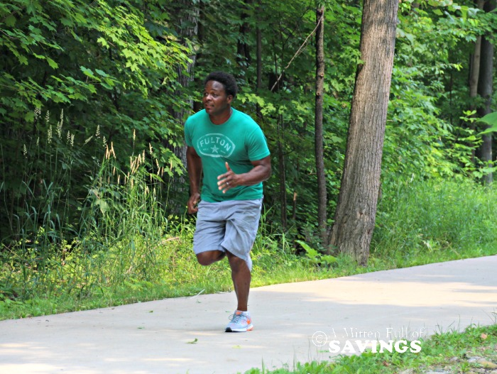 Derrick jogging on the trail