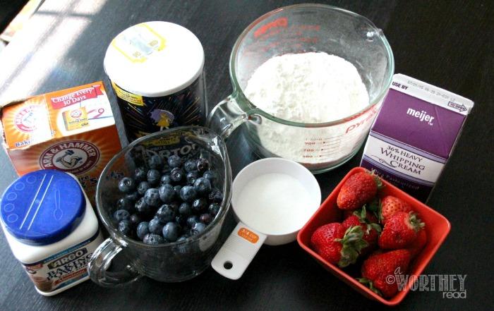 Blueberry & Strawberry Shortcake with Lemon Zest Whip Cream