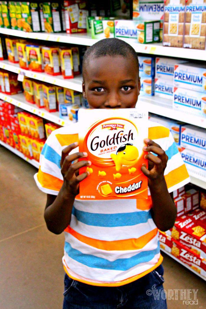 Pepperidge Farm Goldfish Crackers and Zayd'n
