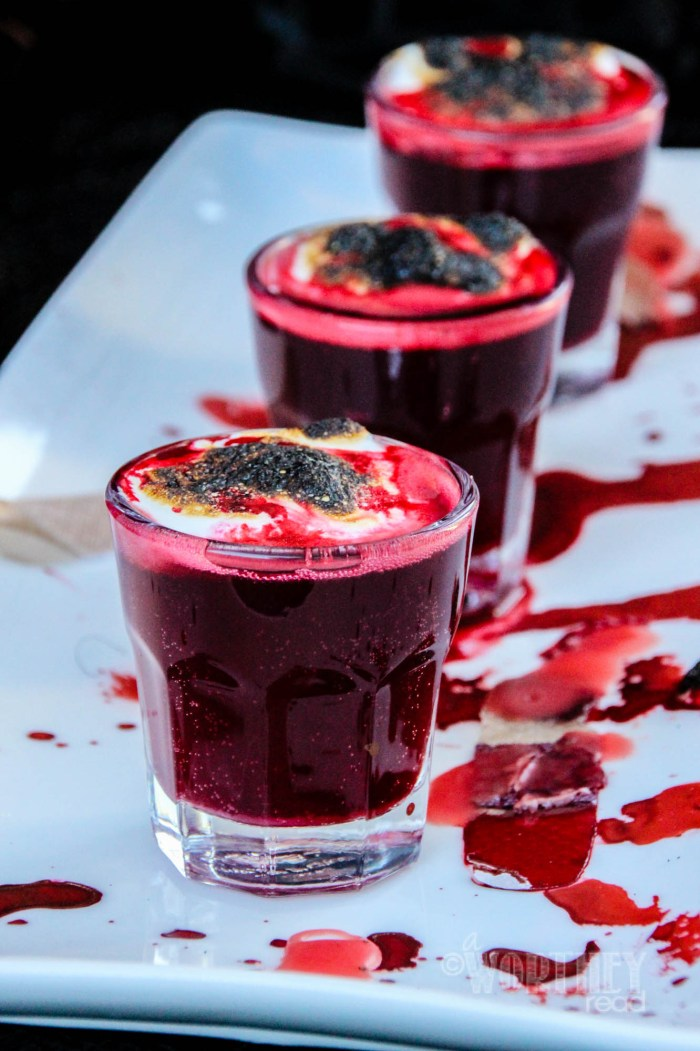 Red Halloween Drink | Blood Clot Shots