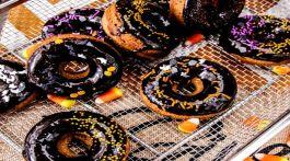 Dark Chocolate Gingerbread Homemade Donuts