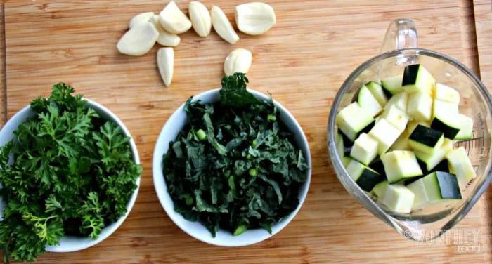 Jasmine Rice with Zucchini, Kale, Parsley and Parmesan Ingredients