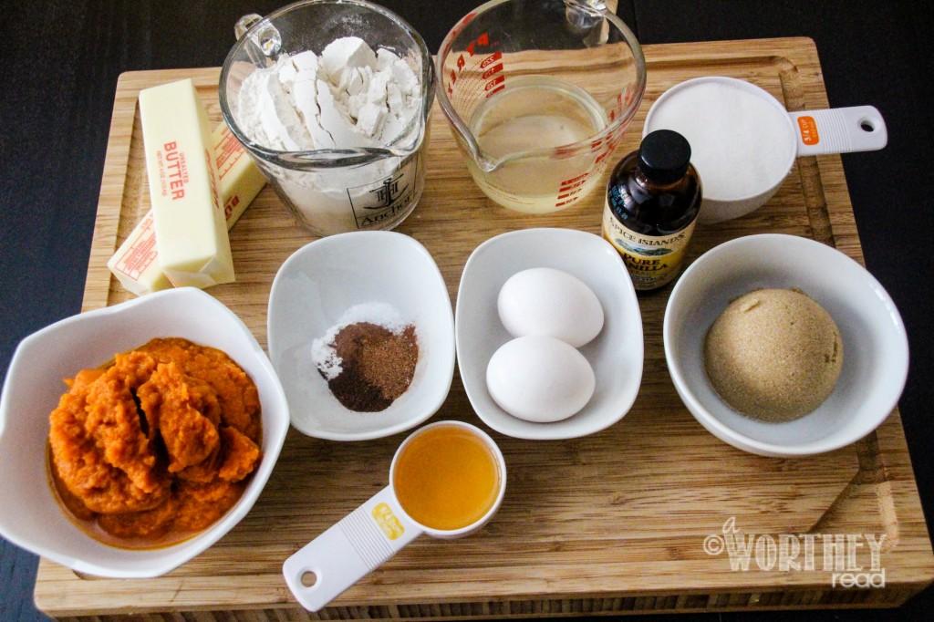 Easy Minion Pumpkin Cupcakes Ingredients