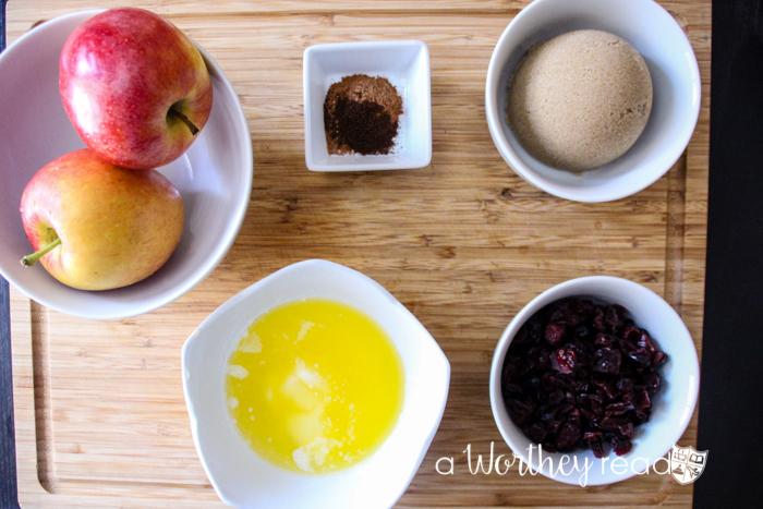 Apple & Cranberry Cinnamon Rolls Ingredients