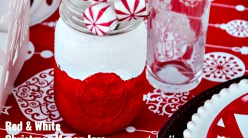 Red & White Christmas Mason Jars
