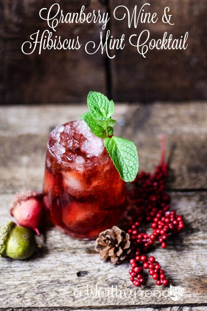 Easy Holiday Wine Cocktail to try this year. Cranberry Wine & Hibiscus Mint Cocktail