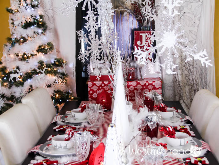 reindeer decor is popular for christmas decor heres a christmas decor idea red - Red And Silver Christmas Decorations