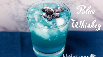 Easy Cocktail Drink to try- Blue Whiskey