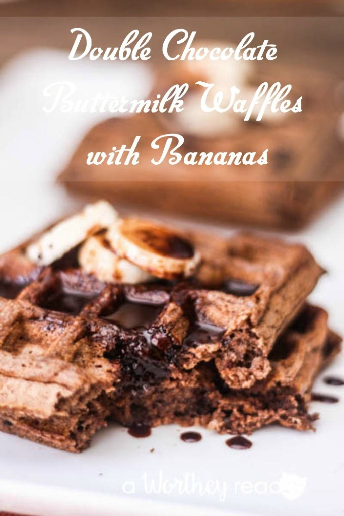 Easy Breakfast recipe- Double Chocolate Buttermilk Waffles with Bananas
