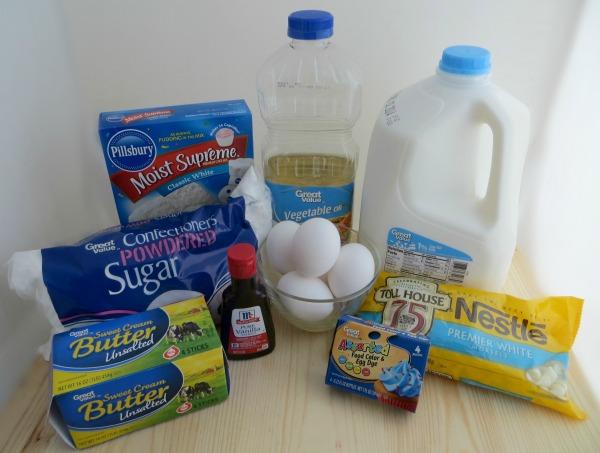 snowflake cupcake ingredients
