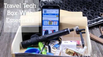 Create a Travel Tech box with all the essentials you need to travel
