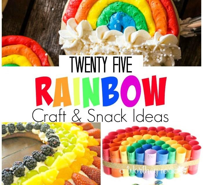 25 Rainbow Craft & Snack Ideas