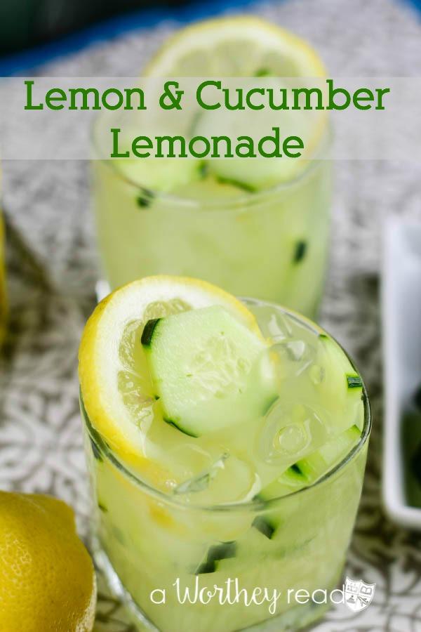 Lemon Cucumber Lemonade This Worthey Life Food Travel
