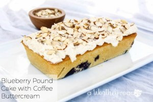 Blueberry Pound Cake with Coffee Buttercream