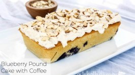 Summer Dessert: Make Homemade Pound Cake with Coffee, Blueberries and our homemade buttercream recipe: Blueberry Pound Cake with Coffee Buttercream