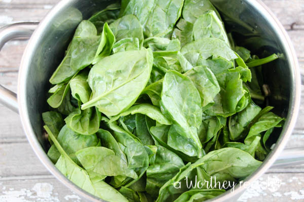 easy game day appetizer with spinach