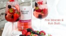 Pink Moscato & Rum Berry Slush