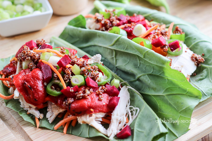 Leftover Turkey Idea- Collard Green & Chopped Turkey Wraps