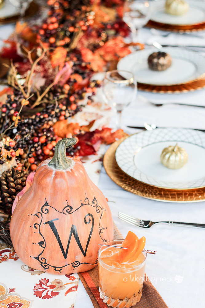 Gold Fall Tablescape
