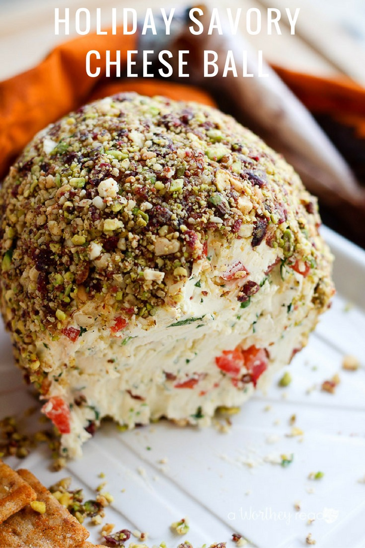 This holiday season make the perfect cheese ball with our Holiday Savory Cheese Ball recipe. This easy cheeseball will be a great hit at your holiday party or appetizer for game day.
