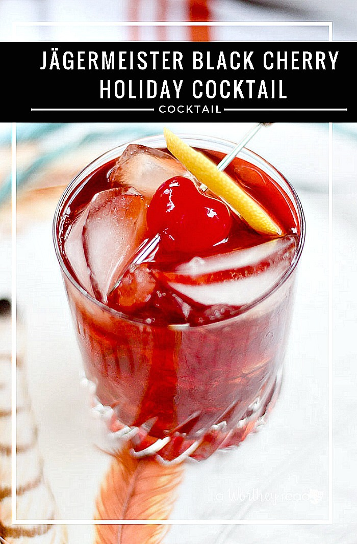 Cheers to a new holiday cocktail. Try our Jägermeister Black Cherry Holiday Cocktail