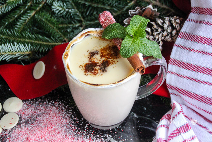 Make our Peppermint Adult Hot Chocolate Cocktail to share with your friends and family this holiday season at all of your parties, events, or just because!