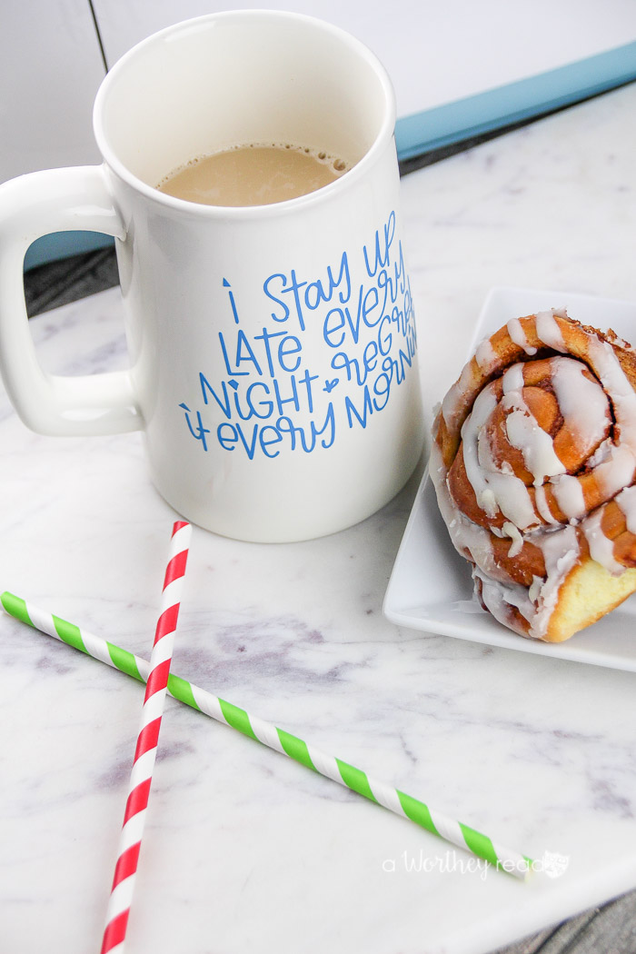 Have a Cricut or another cutting machine? Here's an easy project you can make using your Cricut. Make your own DIY Coffee Mug using Vinyl and a Cricut!