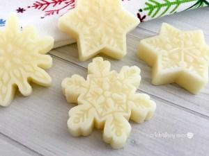 DIY Snowflake Lotion Bar Recipe