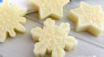 Make this Lotion Bar Recipe as a great way to Moisturize Your Skin This Winter! This DIY Snowflake Lotion Bar Recipe is a great for pampering your skin!