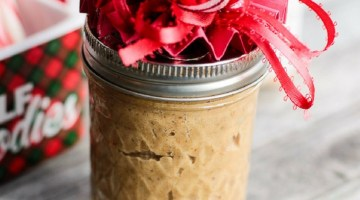 Make your own gifts for Christmas with our gift in a jar idea. Create a jar of Orange Blossom Honey Cookie Butter and give as an inexpensive Christmas Gift idea!