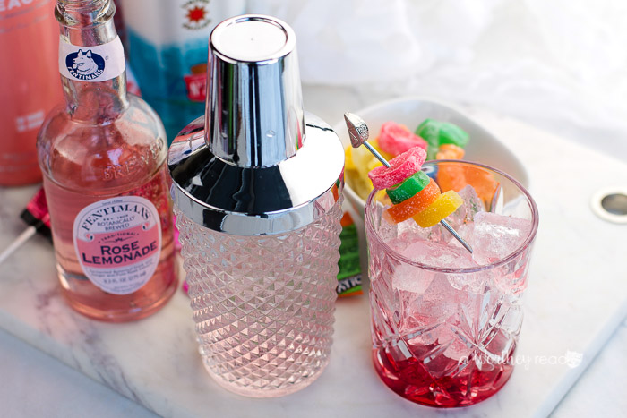 Pucker up this Valentine's Day with our Valentine's Candy Punch Cocktail is not only fun but flavorful with Smirnoff, Rose Lemonade, Candy, and Peach Vodka.