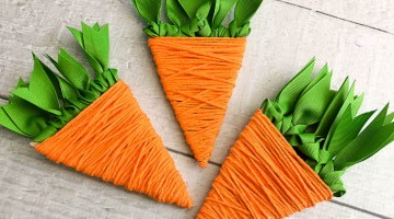 Easter Carrot Yarn Craft